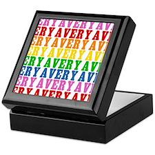 Rainbow Name Pattern Keepsake Box
