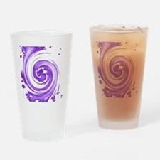 Purple Spiral Drinking Glass