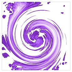 Purple Spiral Poster