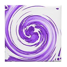 Purple Spiral Tile Coaster