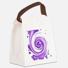 Purple Spiral Canvas Lunch Bag