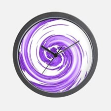 Purple Spiral Wall Clock