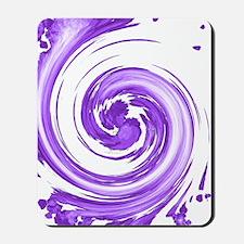Purple Spiral Mousepad