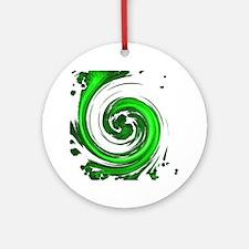 Jade Spiral Round Ornament
