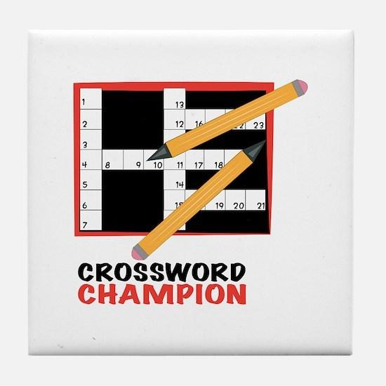 Crossword Champ Tile Coaster