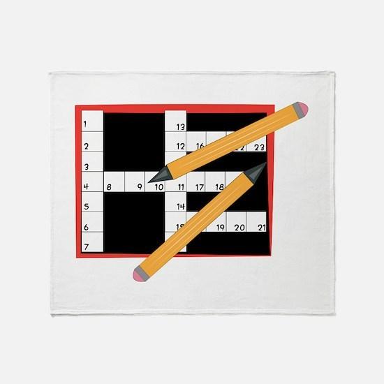 Crossword Throw Blanket