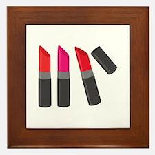 Lipsticks Framed Tile