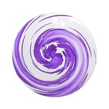 Purple Spiral Ornament (Round)