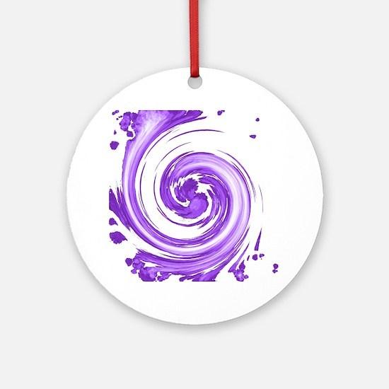 Purple Spiral Ornament (Round)