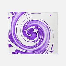 Purple Spiral Throw Blanket