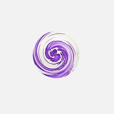 Purple Spiral Mini Button