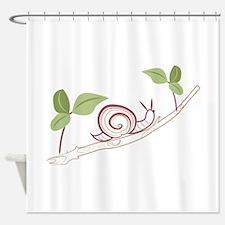 Snail On Limb Shower Curtain