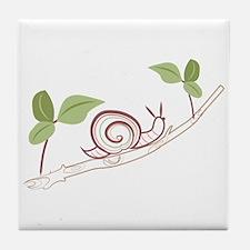 Snail On Limb Tile Coaster