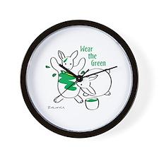 Wear the Green Wall Clock