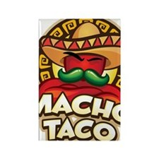 Cute Tacos Rectangle Magnet