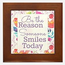 Smiles Framed Tile