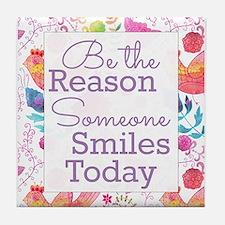 Smiles Tile Coaster