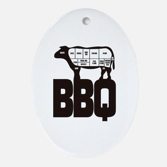BBQ Oval Ornament