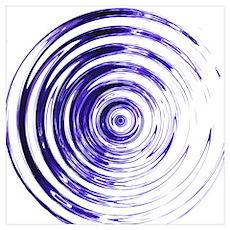Blue Bullseye Poster