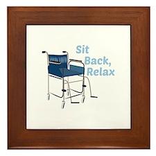 Sit Back Framed Tile