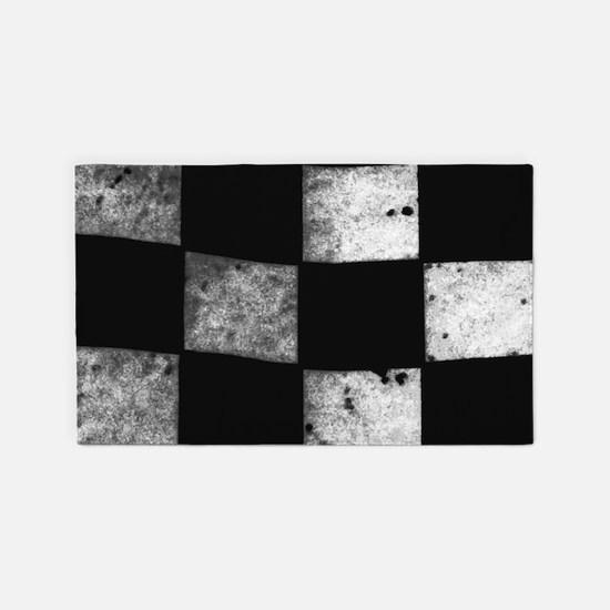 Checkered Flag Area Rug