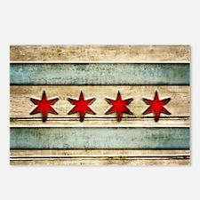 Vintage Chicago Flag Dist Postcards (Package of 8)