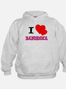 I Love Babushka Hoodie