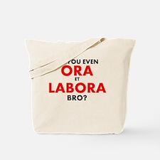 Ora Et Labora Pale Tote Bag