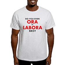 Ora Et Labora Mens Pale T-Shirt