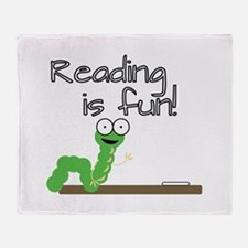 Reading Is Fun! Throw Blanket