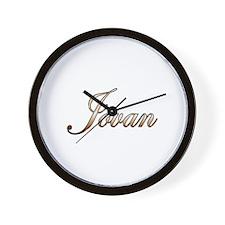 Gold Jovan Wall Clock