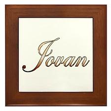 Gold Jovan Framed Tile
