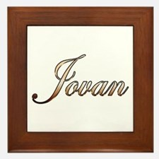 Gold Jovan Framed Tile