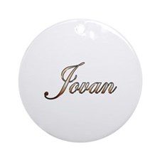 Gold Jovan Round Ornament
