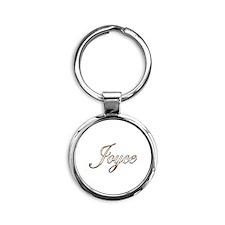 Gold Joyce Round Keychain