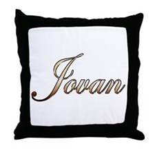 Gold Jovan Throw Pillow