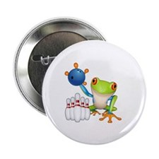 "Bowling Frog 2.25"" Button"