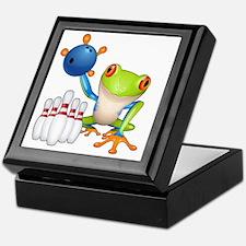 Bowling Frog Keepsake Box