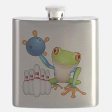 Bowling Frog Flask