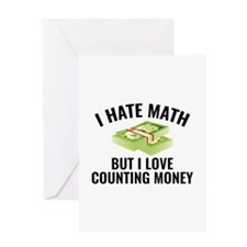 I Love Counting Money Greeting Card