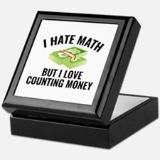 I Love Counting Money Keepsake Box