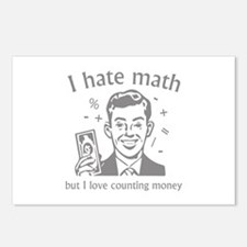 I Love Counting Money Postcards (Package of 8)