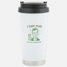 I Love Counting Money Ceramic Travel Mug