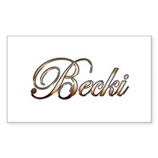 Gold Becki Decal
