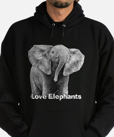Love Elephants! Hoodie (dark)