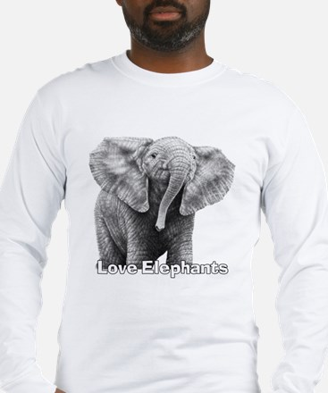 Love Elephants! Long Sleeve T-Shirt