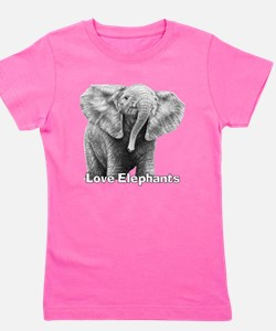Love Elephants! Girl's Tee