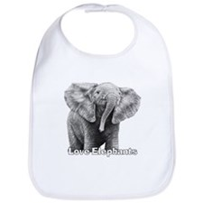 Love Elephants! Bib