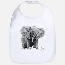 Love Elephants! Bib