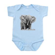 Love Elephants! Infant Bodysuit